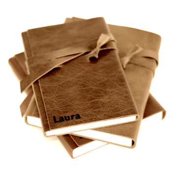 Personalised Leather Wrap Journal