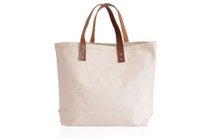 Extra Strong Canvas And Leather Bag - totes