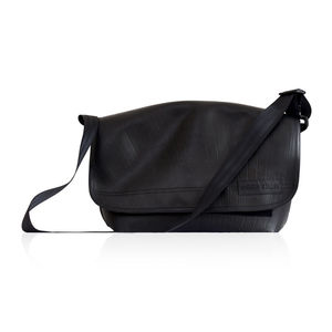 Reclaimed Rubber Messenger Bag - bags