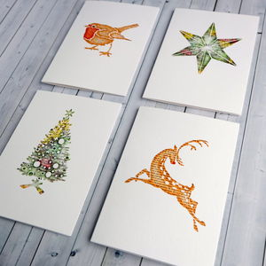 Book Lover Christmas Cards Pack Of Eight - seasonal cards