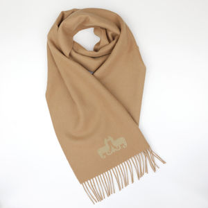 The Alpaca Co. Crest Scarf Camel - scarves