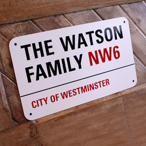 Personalised Street Sign - children's room accessories