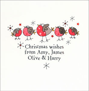 Ten Personalised Handfinished Christmas Cards - christmas cards