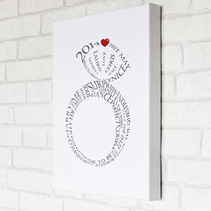 Personalised Engagement Print - gifts for couples