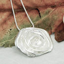 Silver Rose Flower Pendant