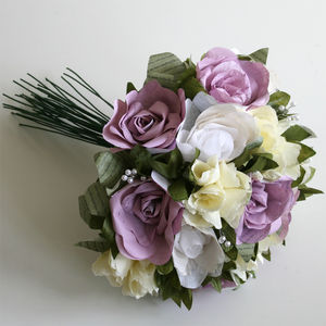 Dusky Pink Paper Wedding Flowers - centre pieces & flowers
