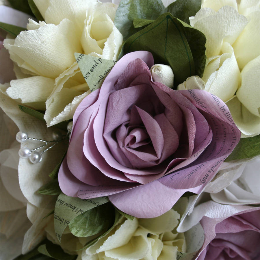 Dusky Pink Paper Wedding Flowers