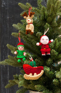 Knitted Decorations In A Set Of Four