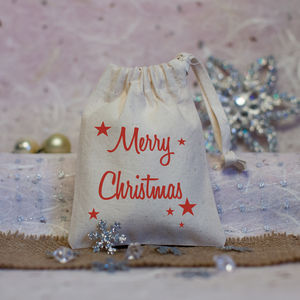 Merry Christmas Favour Bag - gift bags