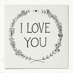'I Love You' Valentines Card - view all gifts