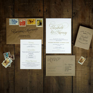 Baroque Wedding Invitation Suite - save the date cards