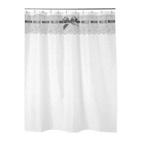 Lace Designed Shower Curtain
