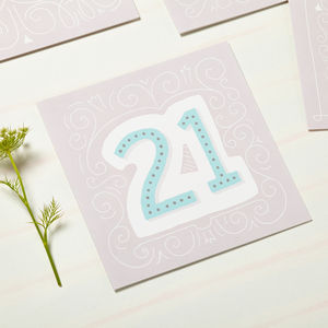 21st Birthday Card - 21st birthday cards