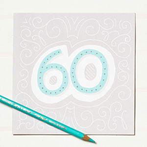 60th Birthday Card - birthday cards