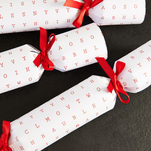 Fill Your Own Christmas Wordsearch Cracker - table decorations