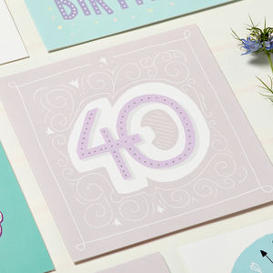 40th Birthday Card - birthday cards