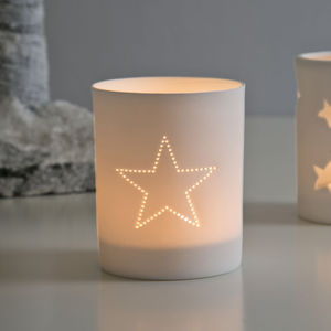 Delicate Porcelain Star Votive - votives & tea light holders