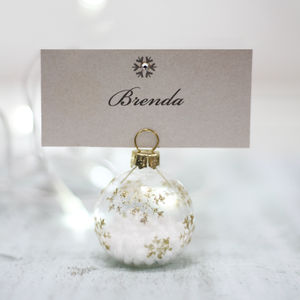 Snowflake Bauble Place Setting