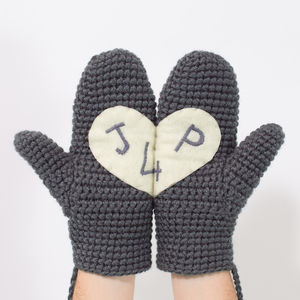 Personalised Love Heart Mittens
