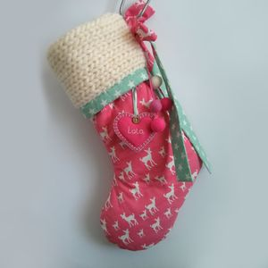 Personalised Knit Detail Christmas Stocking