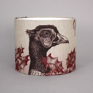 Game And Garden 30cm Pheasant Lampshade - bedroom