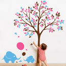Tree With Baby Elephants And Balloons Wall Sticker