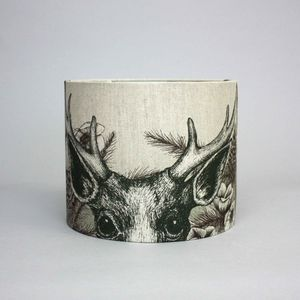 Game And Garden 30cm Stag Lampshade - bedroom