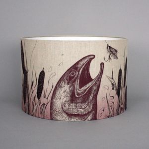 Game And Garden 45cm Salmon Lampshade - bedroom