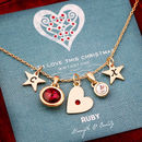 Design Your Own Birthstone Heart Necklace