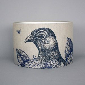 Game And Garden 45cm Grouse Lampshade - bedroom