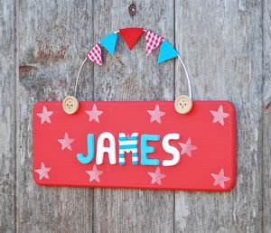 Personalised Stars Door Plaque - baby's room