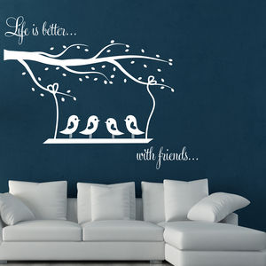 Swing And Birds Wall Stickers - wall stickers