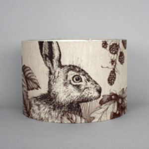Game And Garden 45cm Hare Lampshade - lamp bases & shades