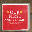 'Our First Anniversary' Card
