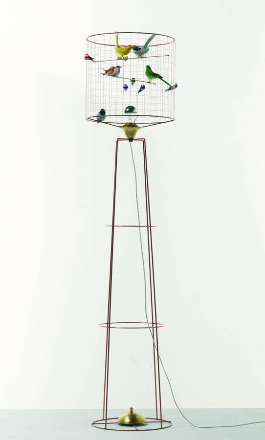 Copper Bird Cage Floor Lamp By I Love Retro