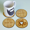 Bamboo Biscuit Coasters