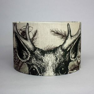 Game And Garden 45cm Stag Lampshade - bedroom