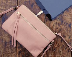 Leather Crossbody Bag With Charging Unit - gadget-lover