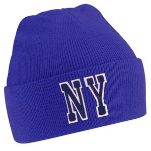 Personalised Royal Blue Beanie Hat With Initials - hats, scarves & gloves