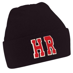Personalised Black Beanie Hat With Initials - hats, scarves & gloves