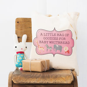 Baby Shower Personalised Tote Bag - gift bags & boxes