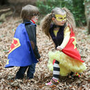 Personalised Superman and POW capes