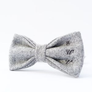 Monogrammed Yorkshire Tweed Bow Tie - best man & usher gifts