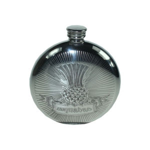 Thistle Usquabae Hip Flask With Engraving - personalised