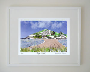 Burgh Island Devon Limited Edition Giclee Print - contemporary art