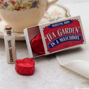 Tea Garden In A Matchbox - stocking fillers under £15