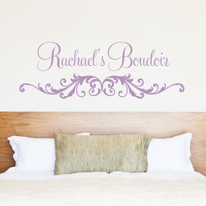 Personalised Boudoir Wall Stickers - living room