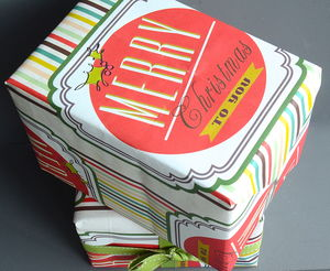 Typographic Christmas Gift Wrap