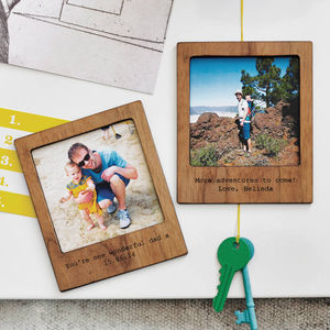 Three Personalised Polaroid Magnetic Picture Frame Set