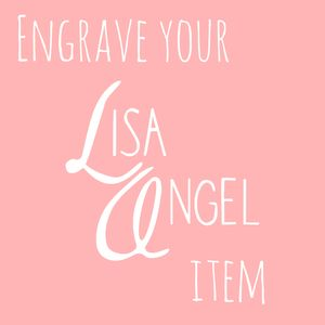 Engrave Your Lisa Angel Order - men's jewellery